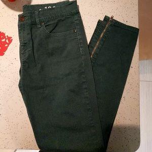GAP green legging jeans (sz 27/4)